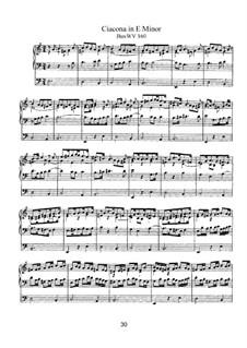 Чакона ми минор, BuxWV 160: Для органа by Дитрих Букстехуде
