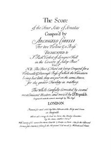 Двенадцать трио-сонат 'da chiesa' для двух скрипок и бассо континуо, Op.1: Сборник by Арканджело Корелли