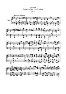 Концерт для скрипки с оркестром ля минор, Op.28: Версия для скрипки и фортепиано by Карл Голдмарк