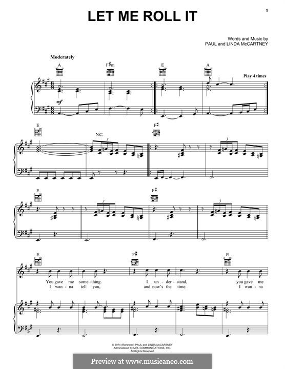 Let Me Roll It: Для голоса и фортепиано (или гитары) by Linda McCartney, Paul McCartney