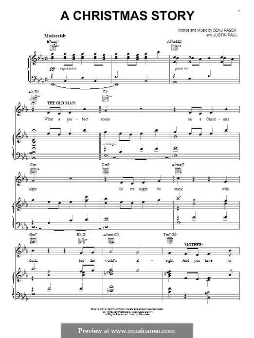 A Christmas Story: Для голоса и фортепиано (или гитары) by Justin Paul, Benj Pasek