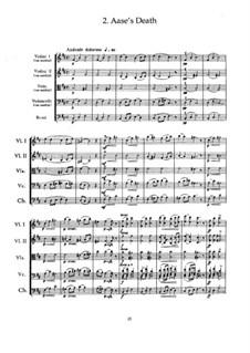 Сюита No.1. Смерть Озе, Op.46 No.2: Партитура by Эдвард Григ