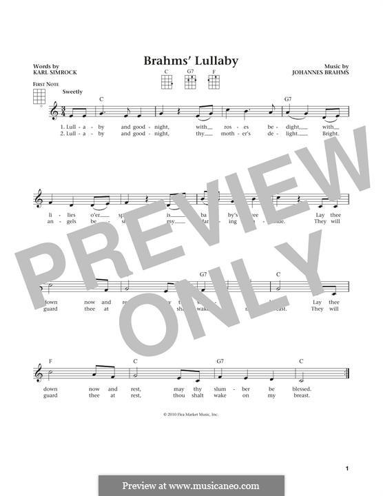 No.4 Колыбельная: Для укулеле by Иоганнес Брамс