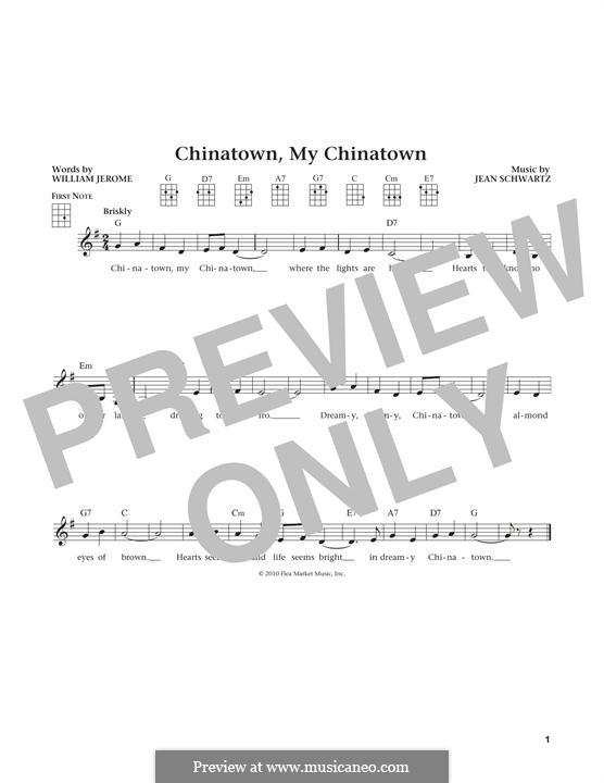 Chinatown, My Chinatown (Louis Armstrong): Для укулеле by William Jerome, Jean Schwartz