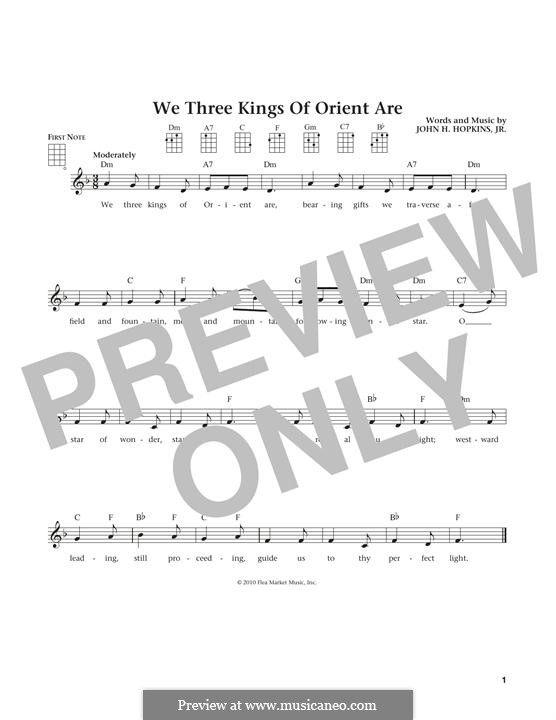 We Three Kings of Orient are: Для укулеле by John H. Hopkins Jr.