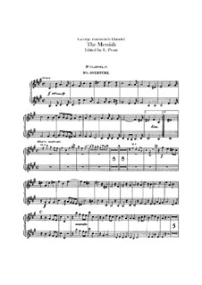 Вся оратория: Партии кларнетов in B by Георг Фридрих Гендель