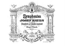 Симфония No.103 ми-бемоль мажор 'С тремоло литавр', Hob.I/103: Версия для фортепиано в 4 руки by Йозеф Гайдн
