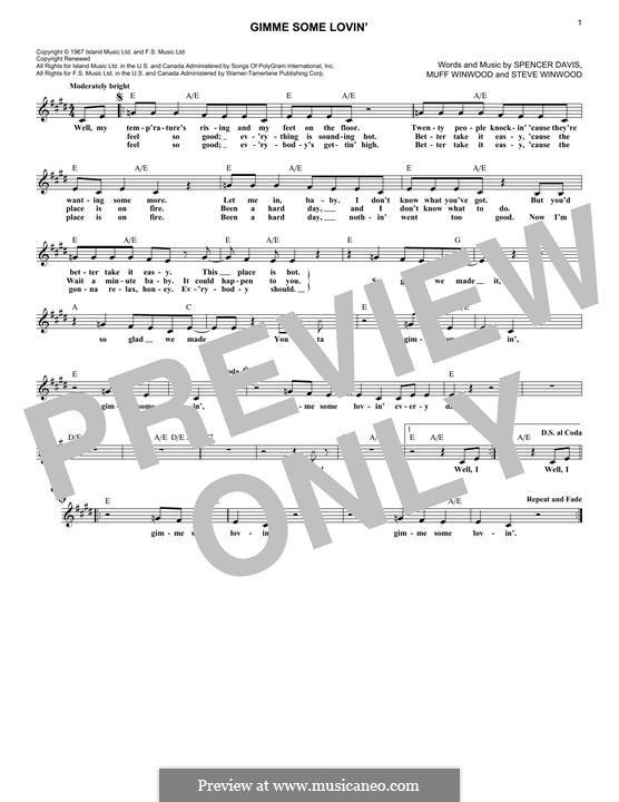 Gimme Some Lovin' (The Spencer Davis Group): Мелодия by Muff Winwood, Spencer Davis, Steve Winwood