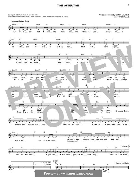 Time after Time: Мелодия by Cyndi Lauper, Robert Hyman