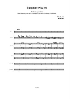 Il pastore svizzero: Reduction for piccolo and strings from the version for piccolo and orchestra by Pietro Morlacchi