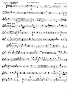 На прекрасном голубом Дунае, Op.314: Партия первого кларнета in Bb by Иоганн Штраус (младший)