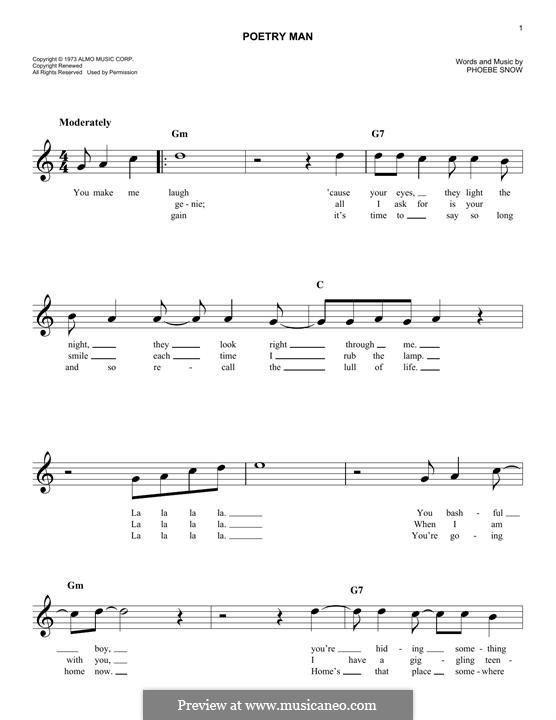 Poetry Man: Мелодия by Phoebe Snow
