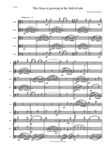 The grass is growing: For flute, oboe and string trio by Дэвид Соломонс