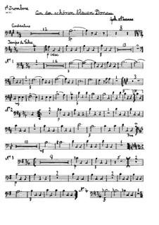 На прекрасном голубом Дунае, Op.314: Партия первого тромбона ad libitum by Иоганн Штраус (младший)