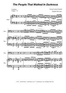No.11 Народ, ходящий во тьме: For trombone solo and piano by Георг Фридрих Гендель