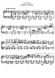 Maple Leaf Rag: Для фортепиано by Скотт Джоплин