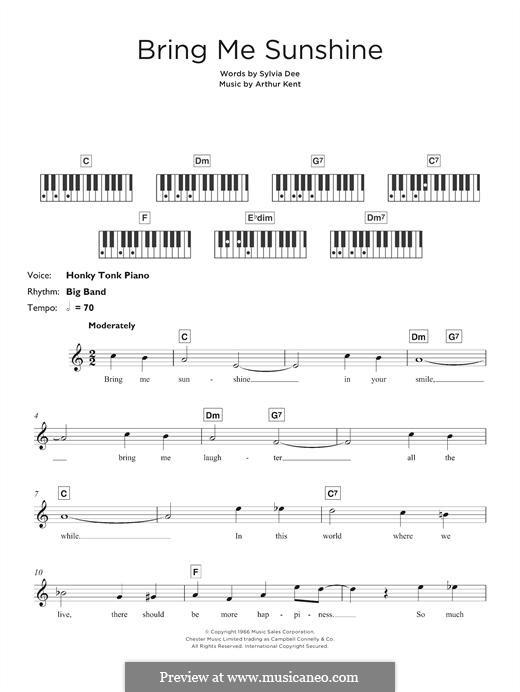 Bring Me Sunshine: Для клавишного инструмента by Arthur Kent