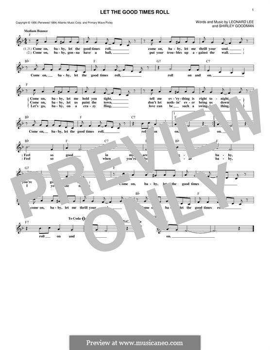 Let the Good Times Roll: Мелодия by Leonard Lee, Shirley Goodman
