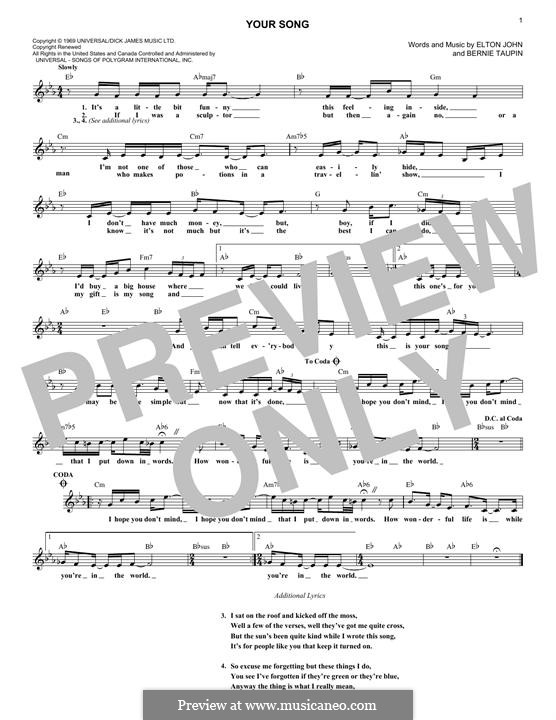 Your Song: Мелодия by Elton John