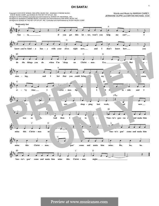Oh Santa!: Мелодия by Bryan Michael Cox, Jermaine Dupri