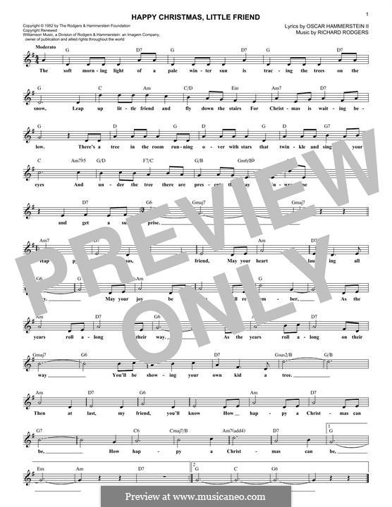 Happy Christmas, Little Friend: Мелодия by Richard Rodgers