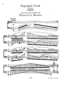 Большие этюды по Паганини, S.141: Весь сборник (Редакция Бузони) by Франц Лист