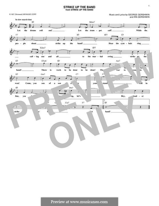 Strike Up the Band: Мелодия by Джордж Гершвин