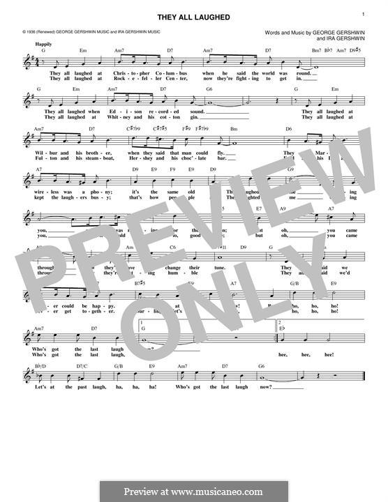 They All Laughed: Мелодия by Джордж Гершвин
