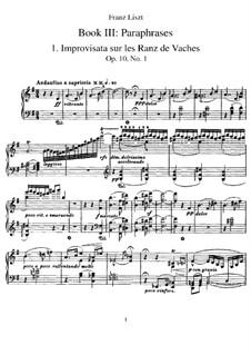 Альбом путешественника, S.156: Тетрадь III by Франц Лист