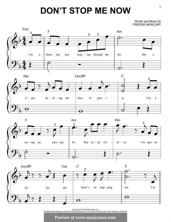 Don't Stop Me Now (Queen): Для фортепиано by Freddie Mercury