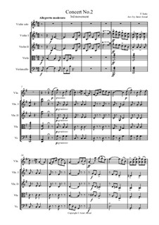 Student Concerto No.2 for Violin and Piano, Op.13: Movement III. Arranged for violin and strings (score and parts) by Фридрих Зейц