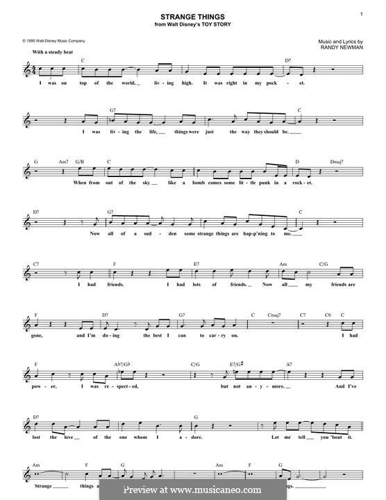 Strange Things: Мелодия by Randy Newman