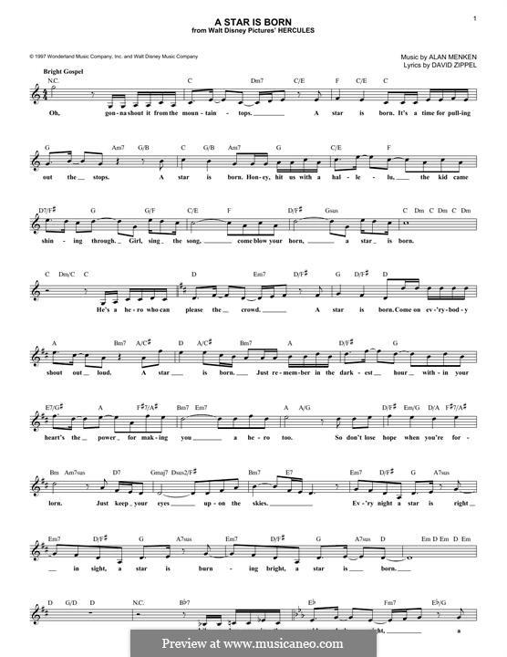 A Star is Born: Мелодия by Alan Menken