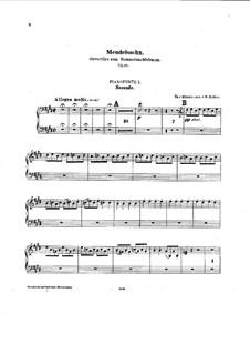 Сон в летнюю ночь, Op.21: Увертюра,  для двух фортепиано в восемь рук by Феликс Мендельсон-Бартольди