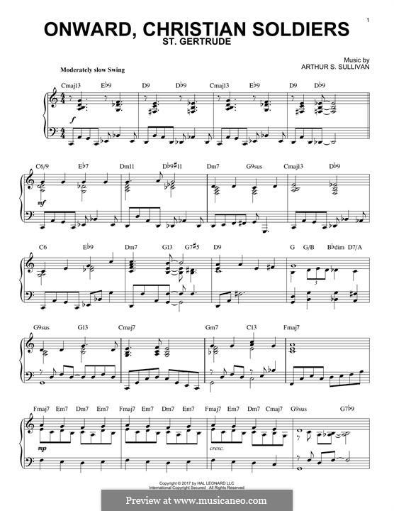 Onward, Christian Soldiers: Для фортепиано by Артур Салливан