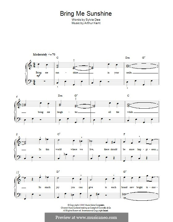 Bring Me Sunshine: Для фортепиано by Arthur Kent