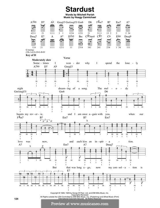 Stardust (Frank Sinatra): For banjo by Hoagy Carmichael