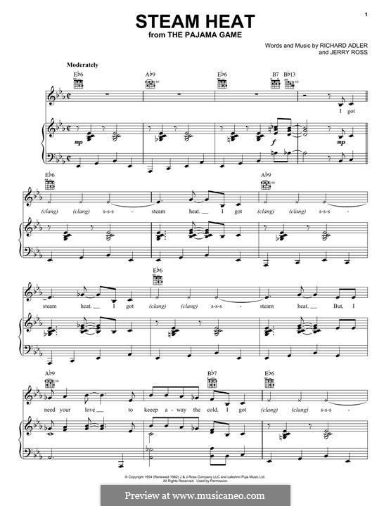 Steam Heat: Для голоса и фортепиано (или гитары) by Jerry Ross, Richard Adler