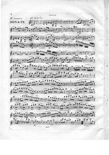 Большая соната для фортепиано и скрипки (или флейты), Op.5: Партия скрипки by Роберт Никола Шарль Бокса