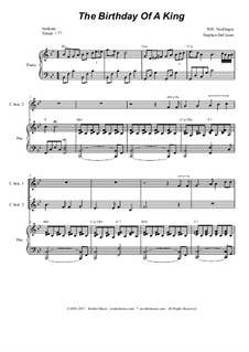 The Birthday of a King: For two C-instruments and piano by William Harold Neidlinger