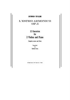 Двенадцать концертов: Score and parts by Антонио Вивальди