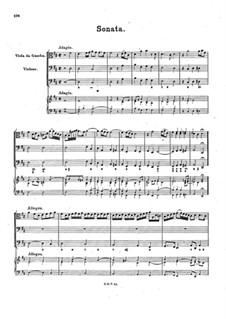 Соната для виолы да гамба, виолоне и бассо континуо ре мажор, BuxWV 267: Соната для виолы да гамба, виолоне и бассо континуо ре мажор by Дитрих Букстехуде