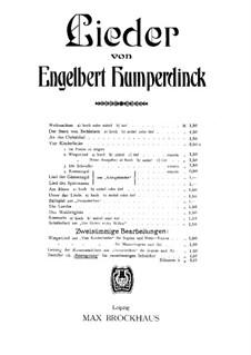 Dornröschen. Gesang der Rosenmädchen, EHWV 121: Dornröschen. Gesang der Rosenmädchen by Энгельберт Хумпердинк