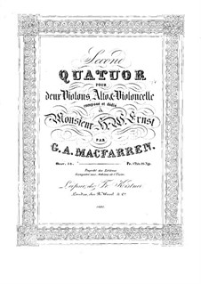 Струнный квартет No.2 фа мажор, Op.54: Скрипка I by Джордж Александр Макфаррен