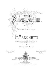 Salve Regina for Baritone and Female Choir: Salve Regina for Baritone and Female Choir by Филиппо Маркетти