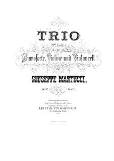 Фортепианное трио No.2, Op.62: Партитура by Джузеппе Мартуччи