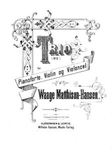 Фортепианное трио No.2 ре минор: Партитура by Вааге Маттисон-Гансен
