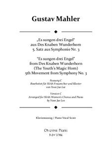 Симфония No.3 ре минор: Movement V. Version C for SSAA chorus by Густав Малер