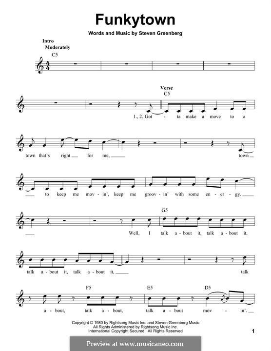 Funkytown (Lipps Inc.): Мелодия by Steven Greenberg