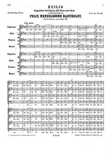 Heilig, WoO 27: Heilig by Феликс Мендельсон-Бартольди